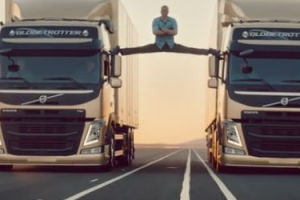 Jean-Claude Van Damme Stages Split in Volvo Truck Ad
