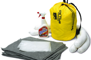New All-in-One Emergency Clean-up System for Hazardous Chemical Spills, Fits in Vehicle