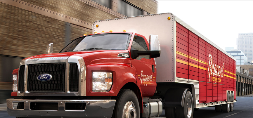 All new ford f 650 f 750 diesel with added horsepower and for Ford motor company driver education series