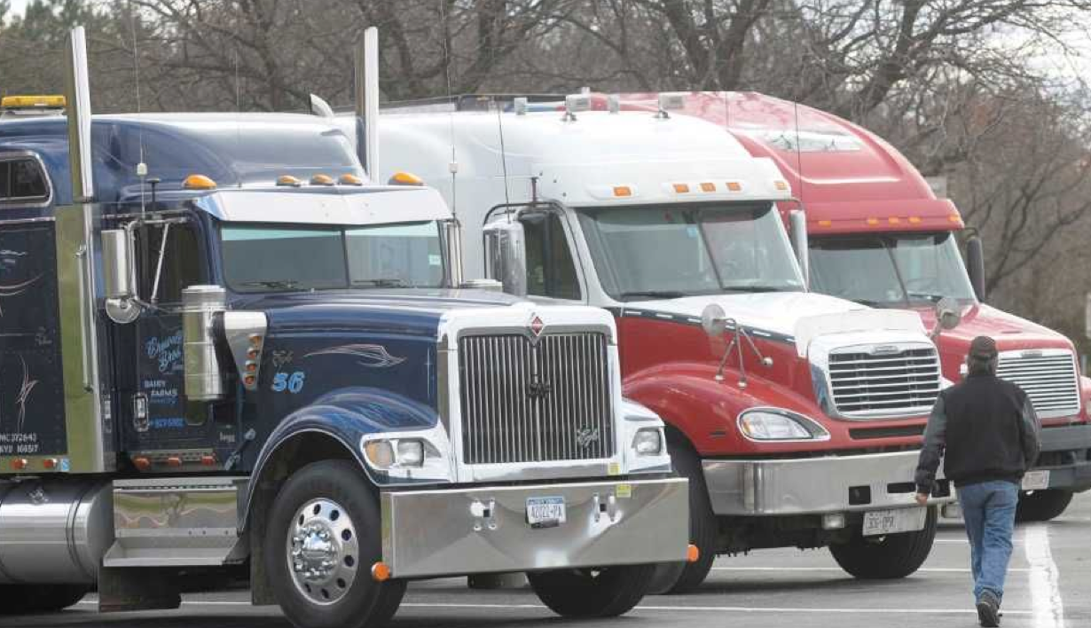 Truckers at Rest Stop