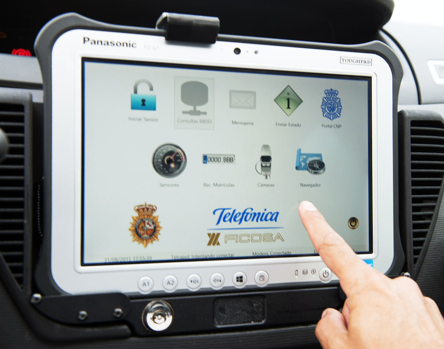 Ficosa Transforms Spanish Police Cars Into Mobile Police Stations