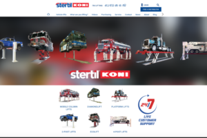 Stertil-Koni Debuts New Company Website with Innovations in HD Vehicle Lifts