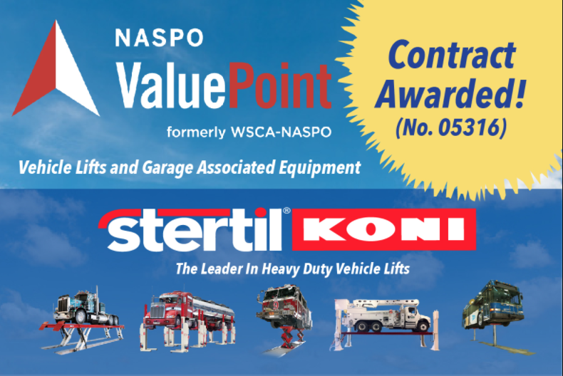 Vehicle Lift Leader Stertil-Koni Awarded NASPO ValuePoint Contract