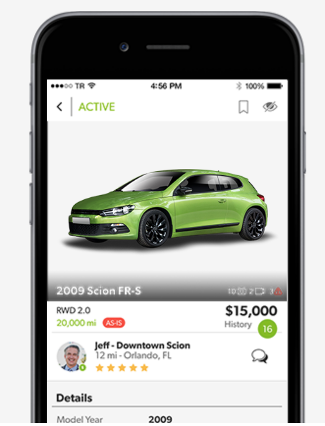 mobile app auto exchange for used car dealers rolls in 3 new markets