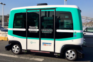 12-Person Electric Autonomous Mini-Shuttle Demoed in Texas