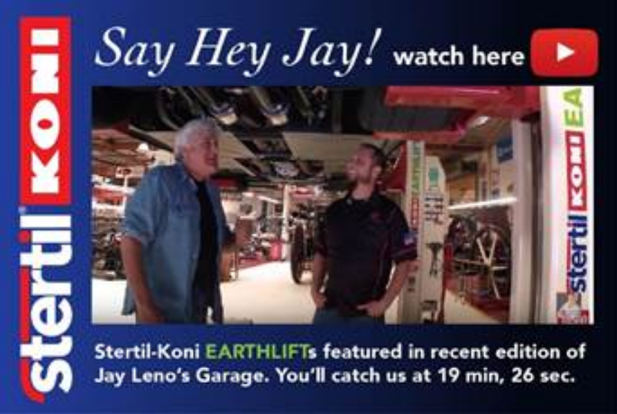 Jay Leno's Garage' Showcases Stertil-Koni EARTHLIFT Mobile Columns