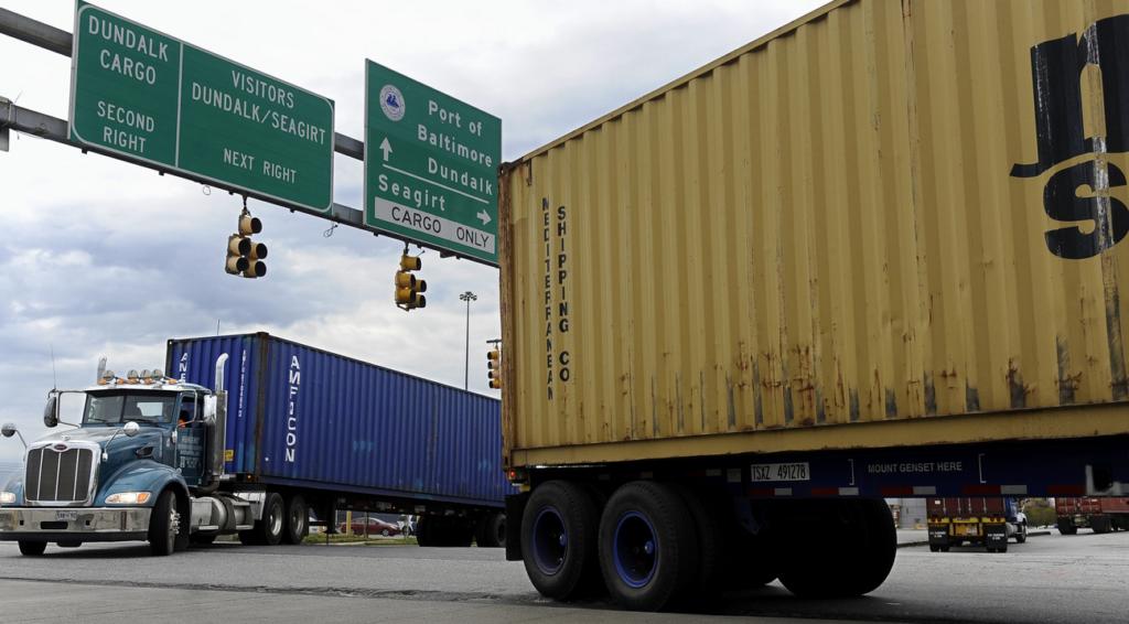 Trucks at Port of Baltimore