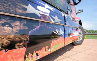 "Volvo Honors Military Heroes with New Volvo VNR ""Ride for Freedom"" Truck"