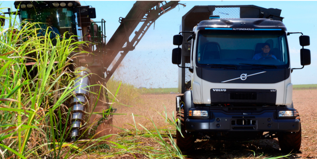 Brazil Uses Self-steering Trucks in Sugar-cane Harvest