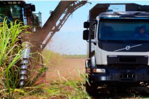 Brazil Uses Self-steering Trucks in Sugar-cane Harvest