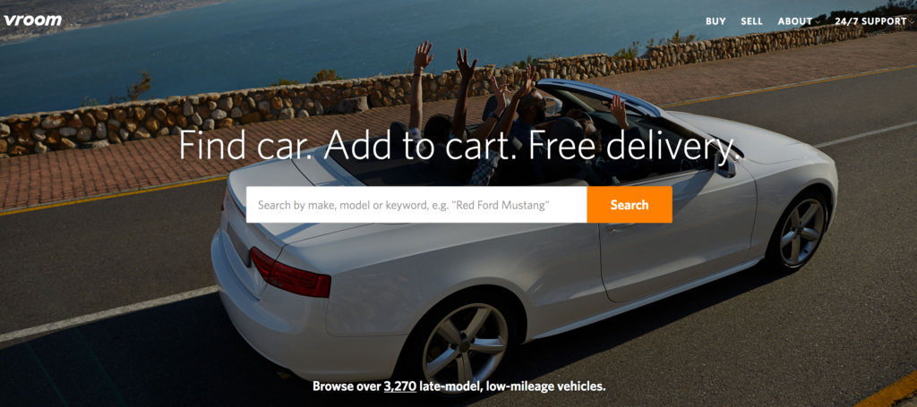 Online Auto Retailer Vroom Raises $76 Million