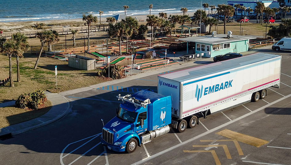 Autonomous Semi Truck Completes Trip From California To