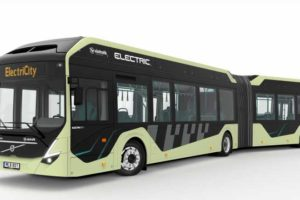 Electric Articulated Buses Being Tested in Sweden