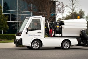 Tropos Motors Debuts New Street Sweeper Electric Compact Utility Vehicle