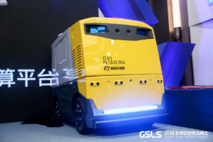 New Un-Manned Logistics Vehicle from Alibaba and Robosense
