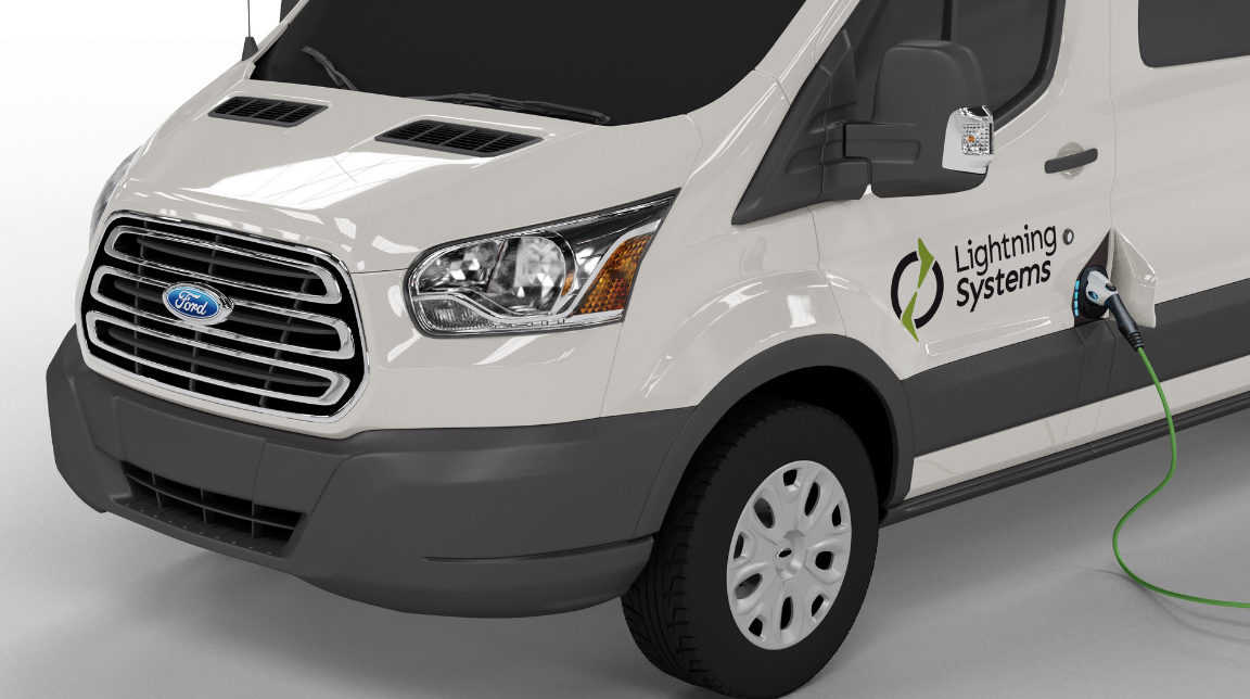 Lightning Systems Receives CARB Order for Zero Emissions Ford Transit