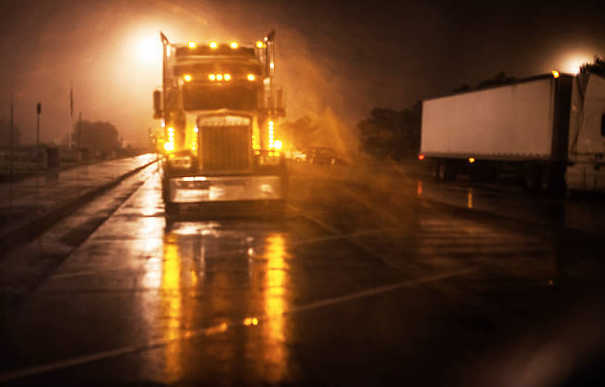 Trucks at Night