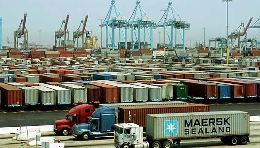 Trucks at Port of LA