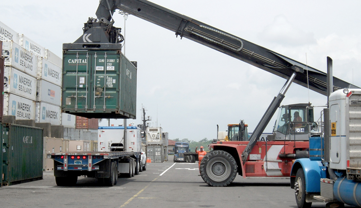 Truck being Loaded at port