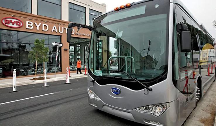 BYD bus in Canada