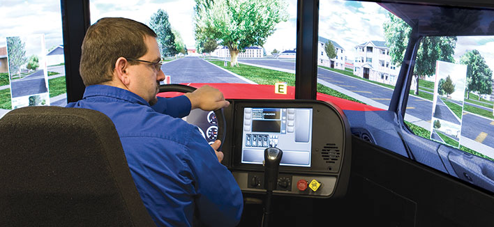 commercial driver training simulator