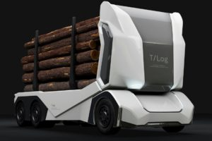 The Autonomous Electric Semi Turning Heads