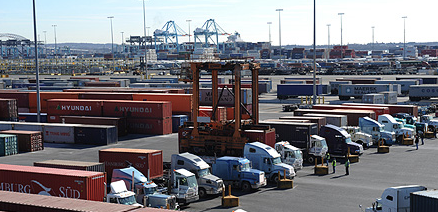 trucks at Port of NYC