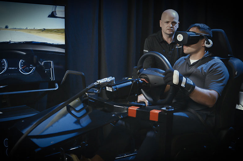 Truck driver training on virtual reality simulator