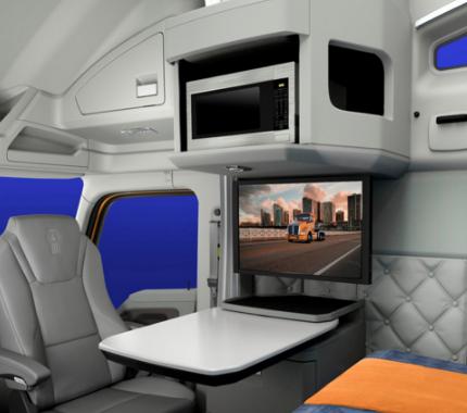 in-cab satellite TV