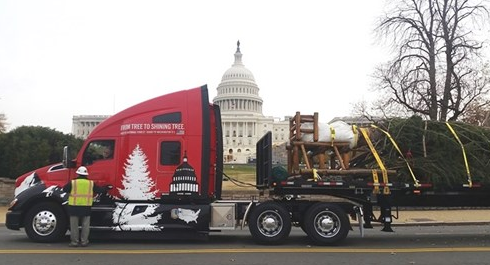 Kenworth U.S. Captiol Christmas tree