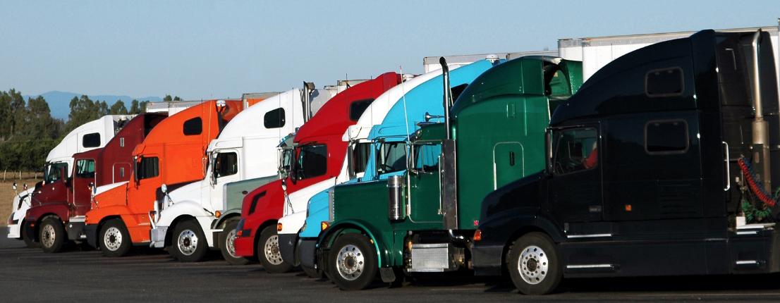 used Class 8 trucks on lot