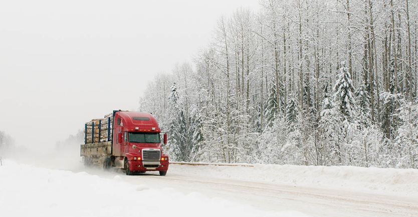 truck in snowy conditions